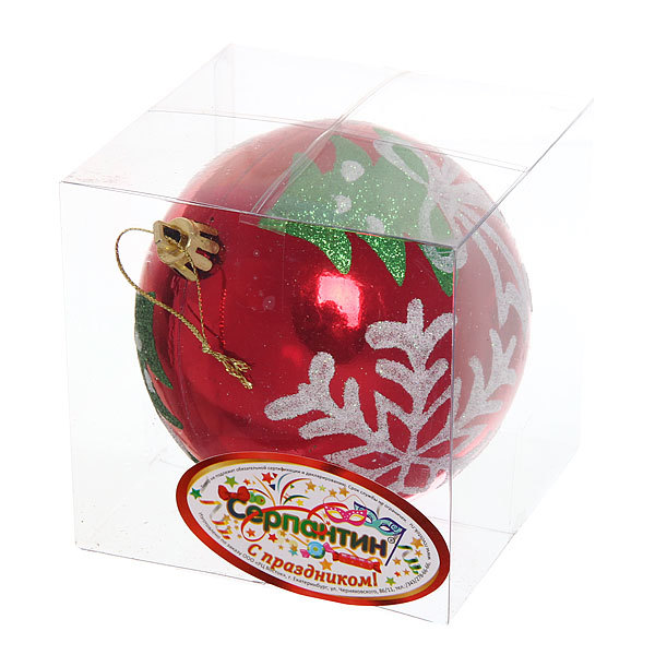 Новогодний шар ″Рождество″ 10см купить оптом и в розницу