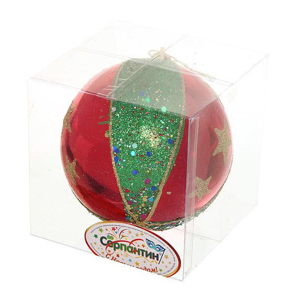 Новогодний шар ″Рождественская Звезда″ 10см купить оптом и в розницу