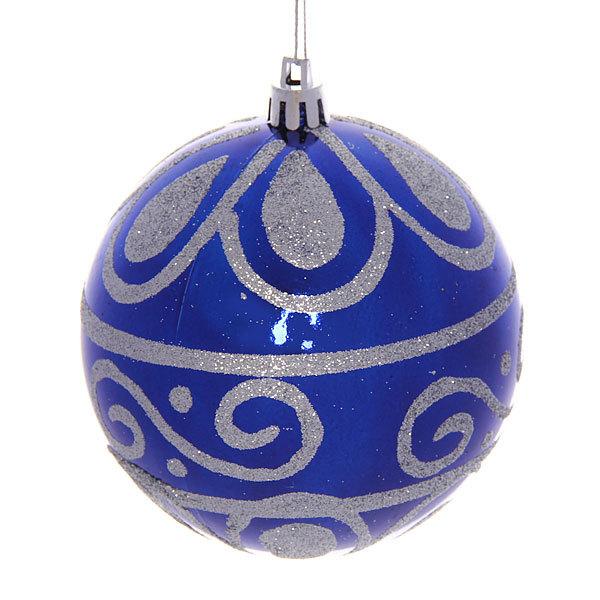 Новогодний шар ″Морозные узоры″ 10см купить оптом и в розницу