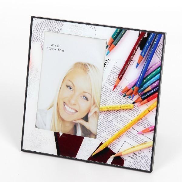 Фоторамка из стекла ″Феерия цвета″ 10х15 см цветные карандаши купить оптом и в розницу