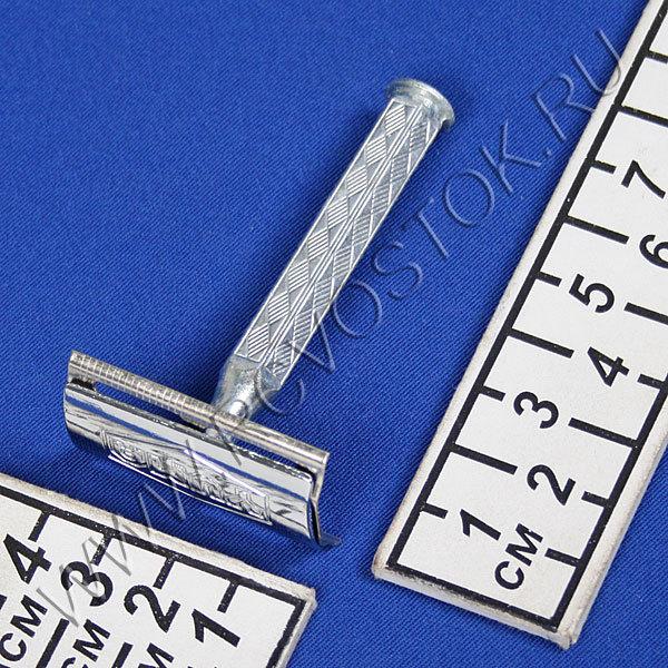 Станок для бритья в картон. коробочке, цвет металл h-7см купить оптом и в розницу