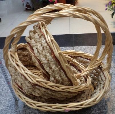 Корзина декоративная плетеная (3шт) 08-552 купить оптом и в розницу