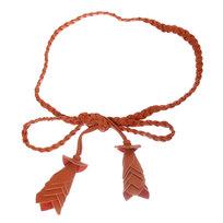 Ремень женский плетеный ″Flower″, цвет рыжий 180см купить оптом и в розницу