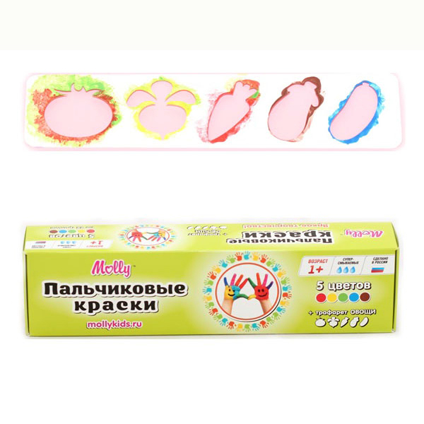 Набор ДТ Пальчиковые краски Овощи 5 цв. FP-09 купить оптом и в розницу