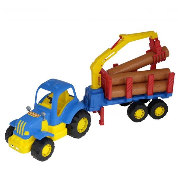 Трактор Силач с полуприцепом-лесовозом 45041 П-Е /6/ купить оптом и в розницу