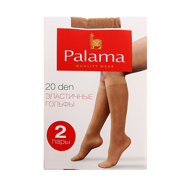Гольфы женские 20 den PALAMA, 2 пары, цвет телесный (97% полиамид, 3% эластан) купить оптом и в розницу