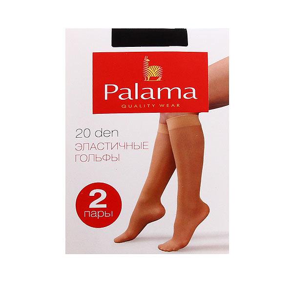 Гольфы женские 20 den PALAMA (2 пары) цвет чёрный, 97% полиамид, 3% эластан купить оптом и в розницу