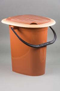Ведро туалет (цветное) 1/10 купить оптом и в розницу
