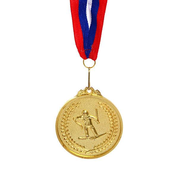 Медаль ″Лыжи″- 1 место (6,5см) купить оптом и в розницу