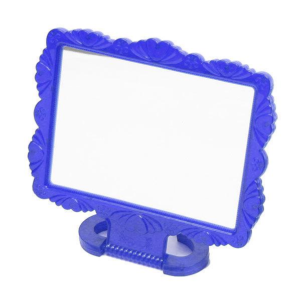 Зеркало настольное в пластиковой оправе ″Резная окантовка″прямоугольник, подвесное 10*8см купить оптом и в розницу