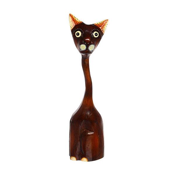 Фигурка из дерева ″Кот коричневый″, 46см купить оптом и в розницу