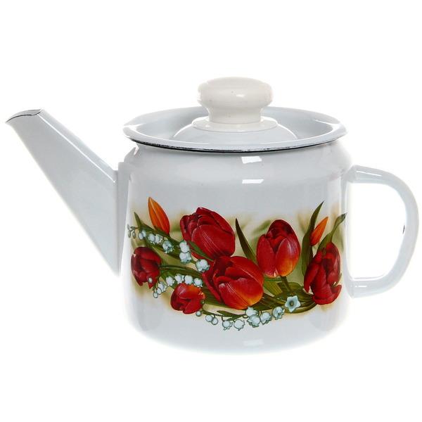 Чайник заварочный эмалированный 1л ″Ласковый май″ купить оптом и в розницу