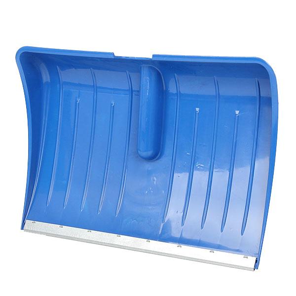 Лопата снеговая пластиковая с оц. планкой 56х40 см купить оптом и в розницу