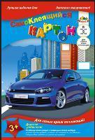 """Картон цветной А4, 5л, 5цв, папка, самоклеящийся, КТС, """"Автомобиль Volkswagen"""" купить оптом и в розницу"""