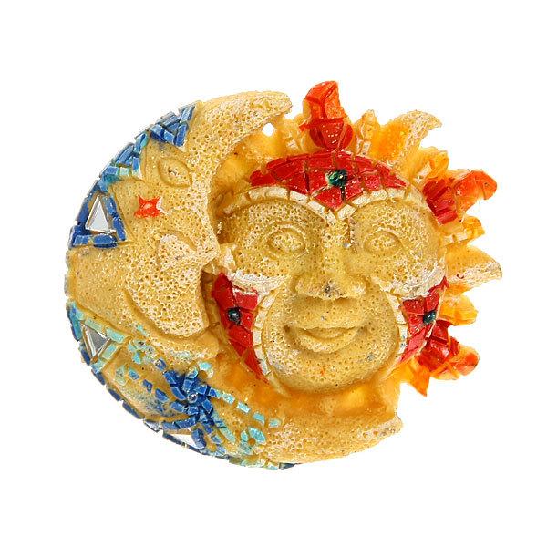 Магнит из полистоуна ″Мозаика″ солнце и луна купить оптом и в розницу