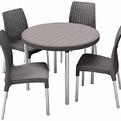 Набор (4 стула и стол) Jersey set, коричневый купить оптом и в розницу