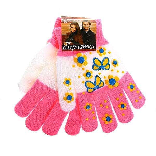 Перчатки женские ″Ромашки″ 852-1 купить оптом и в розницу