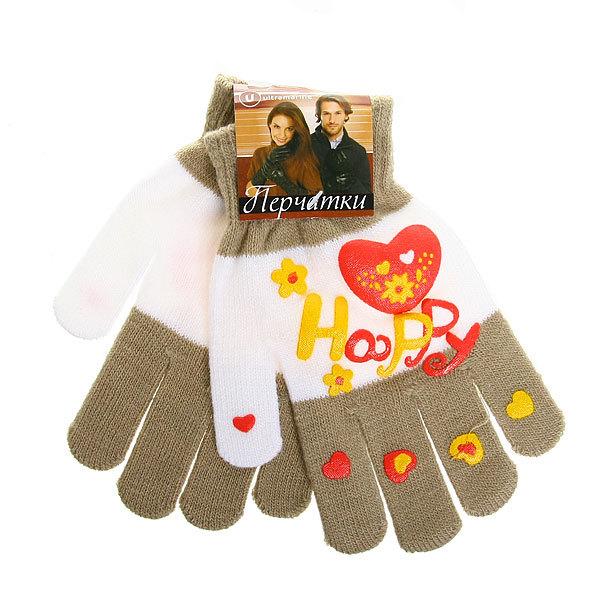 Перчатки молодежные ″Happy″ цвет в ассортименте h-17см купить оптом и в розницу