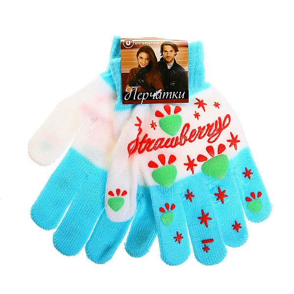Перчатки молодежные ″Звездочки″ цвет в ассортименте h-17см купить оптом и в розницу