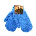 Варежки махровые ″Зимушка″ голубой цв.852-1 купить оптом и в розницу