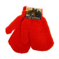 Варежки махровые ″Зимушка″ цвет красный, h-17см купить оптом и в розницу