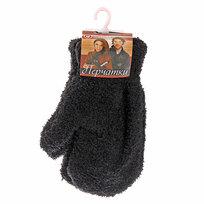 Варежки махровые ″Зимушка″ цвет черный, h-17см купить оптом и в розницу
