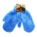 Варежки махровые с ворсом ″Зимушка″ голубой цв.852-1 купить оптом и в розницу