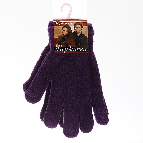 Перчатки однотонные ″Зимушка″ под велюр плотные, цвет фиолетовый, h-17см купить оптом и в розницу