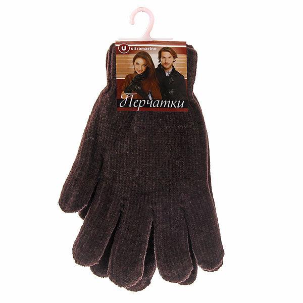 Перчатки под велюр плотные утепленные ″Зимушка″ цвет коричневый, h-22см купить оптом и в розницу