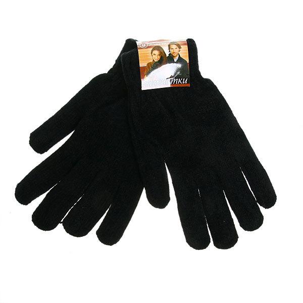 Перчатки под велюр плотные утепленные ″Зимушка″ цвет черный, h-22см купить оптом и в розницу