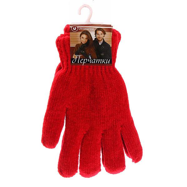 Перчатки под велюр плотные утепленные ″Зимушка″ цвет красный, h-20см купить оптом и в розницу