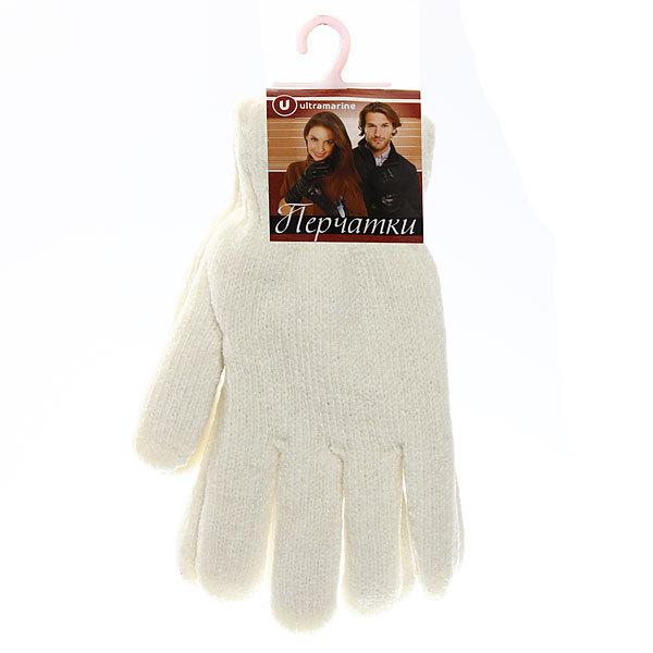 Перчатки женские ″Зимушка″ под велюр плотные утепленные, белый цв.852-1 купить оптом и в розницу
