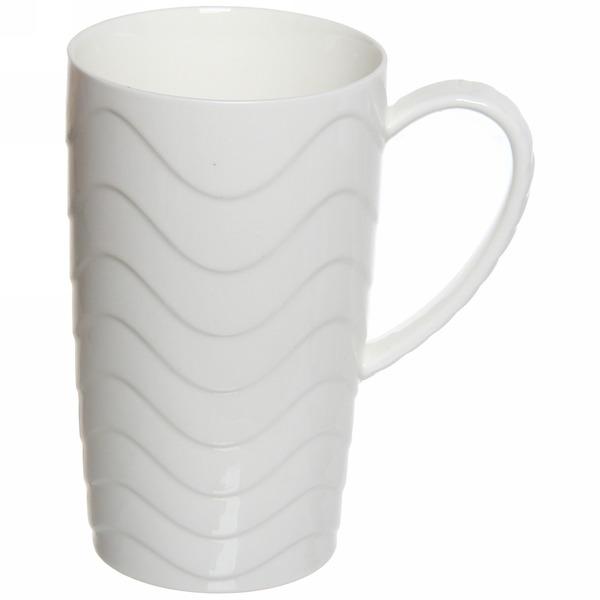 Кружка керамическая 350мл ″Белая″ волна купить оптом и в розницу