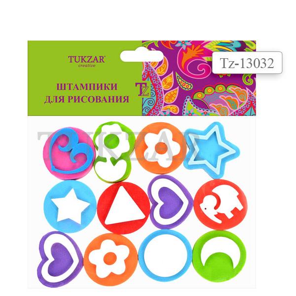Набор ДТ Набор штампиков для рисования 12 шт. 13032TZ купить оптом и в розницу