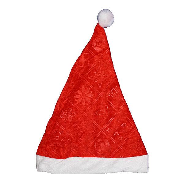 Колпак новогодний, красный ″Цветы″, 27*34см купить оптом и в розницу