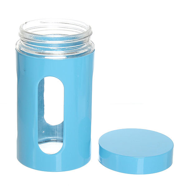 Банка для продуктов стеклянная в наборе 3 шт ″Стиль″ 600,800,1200 мл ″Голубая″ купить оптом и в розницу