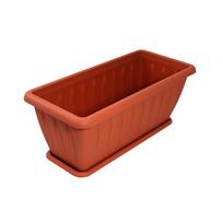 Ящик для растений ″Фелиция″ терракот 40см с поддоном С185Т купить оптом и в розницу