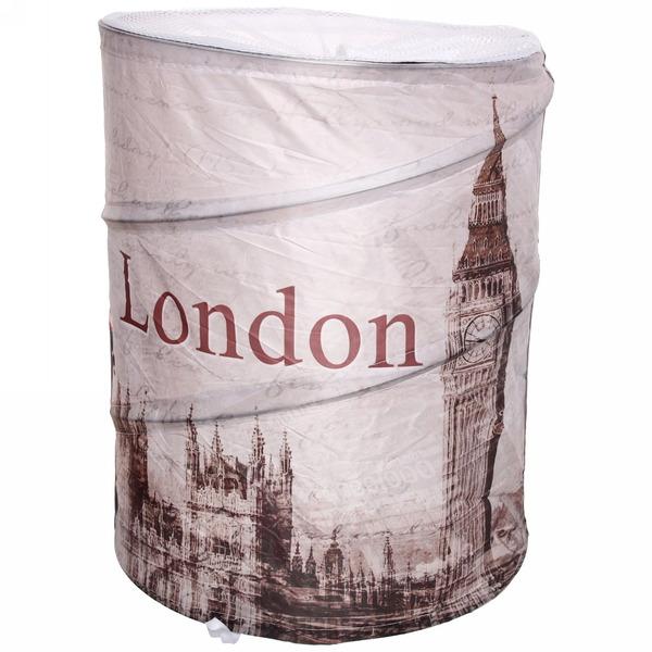 Корзина для белья, складная ″Лондон″ 43*34 см купить оптом и в розницу