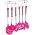 Набор кухонных принадлежностей на подвеске 6 шт CFJ фуксия купить оптом и в розницу