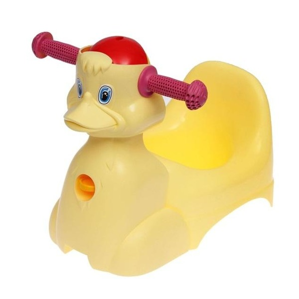 """Горшок-игрушка """"Уточка"""" желтый пастельный *5 купить оптом и в розницу"""