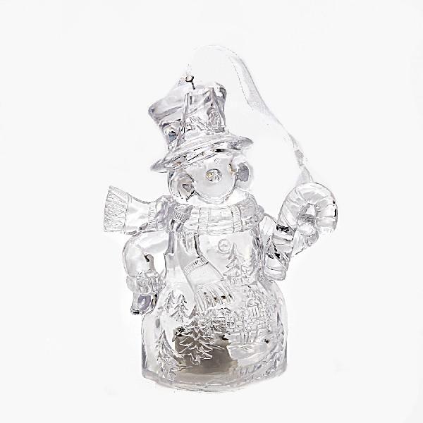 Фигурка с подсветкой ″Снеговичок хрустальный блеск″12см купить оптом и в розницу
