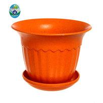 Горшок для цветов ЭКО Василек″ 18*14см SHY-4D оранжевый 2,8 купить оптом и в розницу