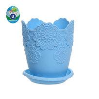 Горшок для цветов ЭКО Ажур″ 10*9см JX2821 голубой купить оптом и в розницу