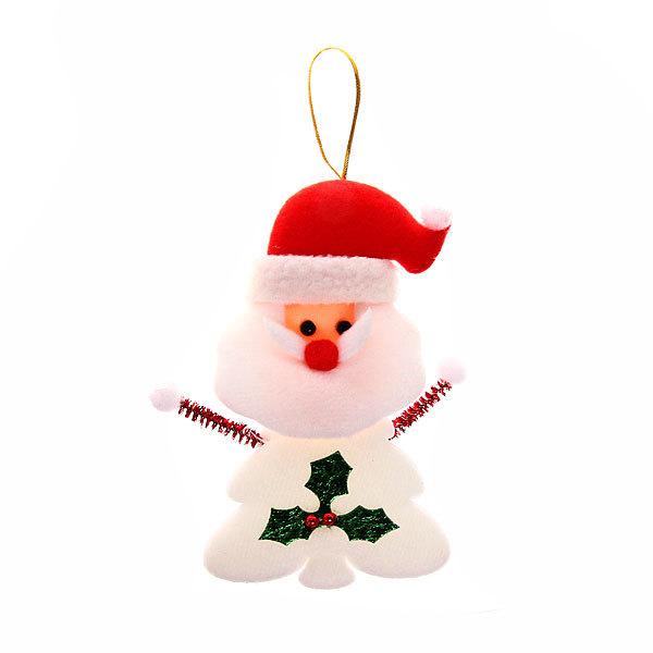 Ёлочная игрушка мягкая 18см ″Дед мороз, снеговик с елочкой″ купить оптом и в розницу