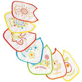 Слюнявчик клеенчатый на завязках в наборе 3шт /Пома/ купить оптом и в розницу