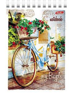 """Блокнот А6 80л.нелин.,гребень,карт.обл.HATBER, """"Лето на велосипеде"""" купить оптом и в розницу"""