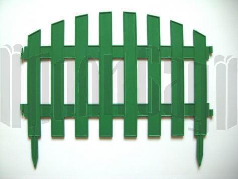 Забор декоративный № 2 (30*300) зеленый 1/5 купить оптом и в розницу