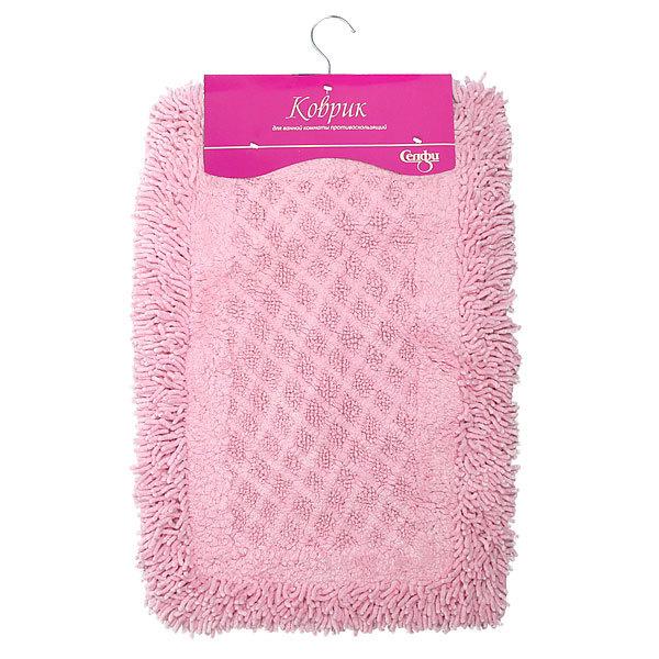 Коврик для ванной Селфи 40*60 см 100% хлопок, розовый купить оптом и в розницу