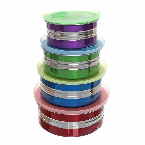 Контейнер для продуктов в наборе 4 шт ″Радуга″ (400,600,800,1000 мл) купить оптом и в розницу