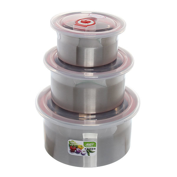 Контейнер для продуктов в наборе 3 шт ″Стиль″ (300,600,1200 мл) купить оптом и в розницу